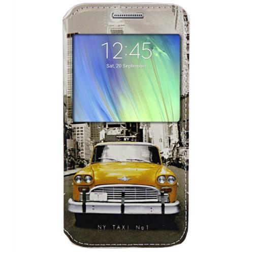 Cepsesuar Samsung Galaxy A7 Kılıf Standlı Taksi