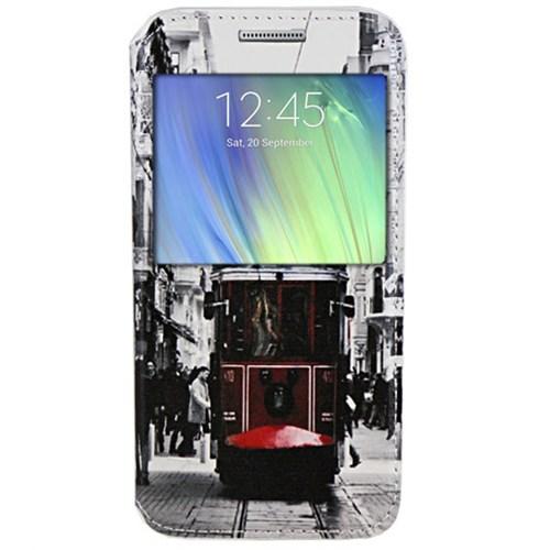 Cepsesuar Samsung Galaxy A7 Kılıf Standlı Tramvay