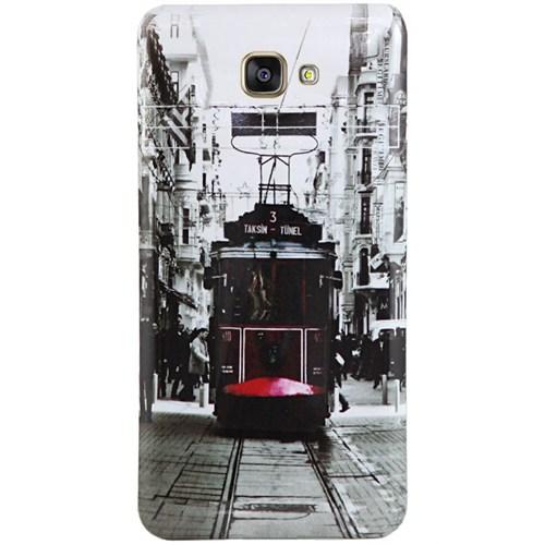 Cepsesuar Samsung Galaxy A3 2016 Kılıf Silikon Resimli Tramvay