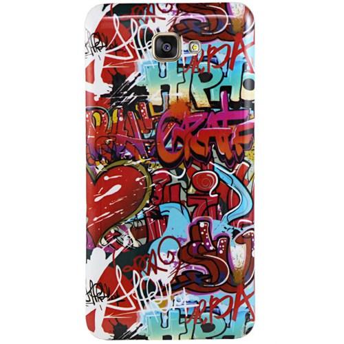 Cepsesuar Samsung Galaxy A7 2016 Kılıf Silikon Resimli Grafiti