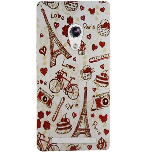 Cepsesuar Asus Zenfone 5 Lite Kılıf Silikon Desenli Paris Love