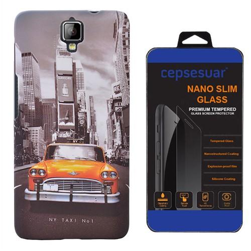 Cepsesuar General Mobile Discovery 2 Kılıf Arka Kapak Taksi + Kırılmaz Cam