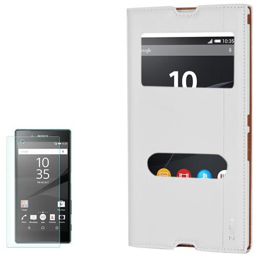 Cep Market Sony Xperia Z Ultra Kılıf Pencereli Milano Kırılmaz Cam