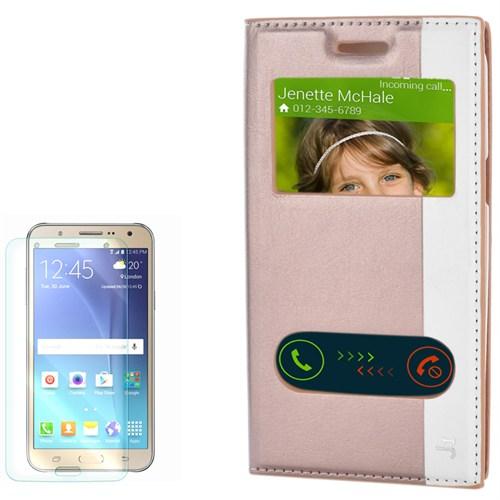 Cep Market Samsung Galaxy J1 Kılıf Pencereli Gizli Mıknatıslı Milano