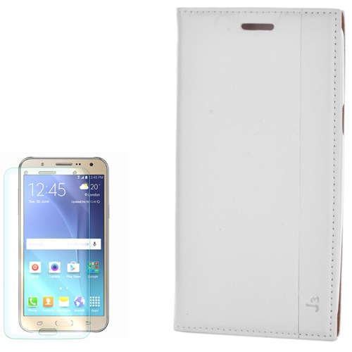 Cep Market Samsung Galaxy J3 Kılıf Kapaklı Mıknatıslı Milano Kırılmaz Cam