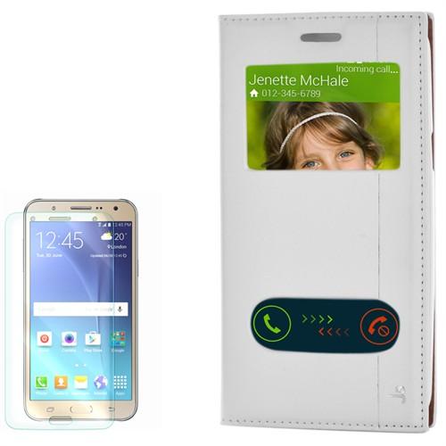 Cep Market Samsung Galaxy J5 Kılıf Pencereli Kapaklı Mıknatıslı Milano Kırılmaz Cam