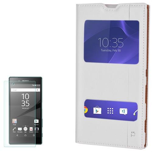 Cep Market Sony Xperia T3 Kılıf Pencereli Milano Kırılmaz Cam