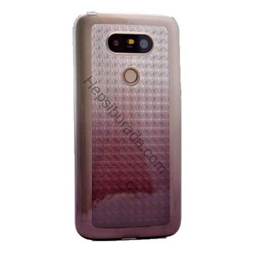 Fonemax Lg G5 Galaxy Desenli Şeffaf Silikon Kılıf