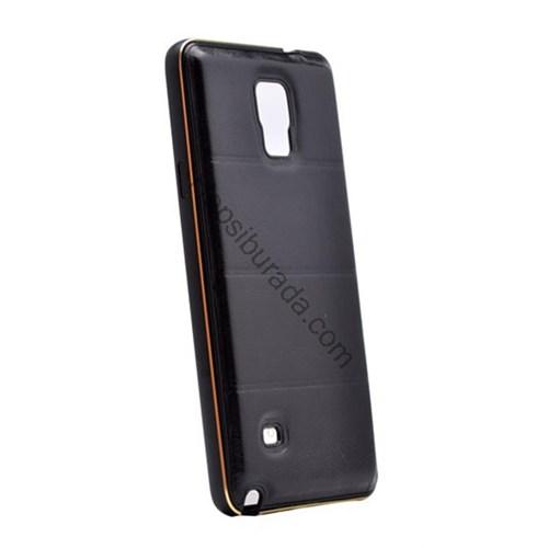 Fonemax Samsung Galaxy Note 3 Deri Arka Kapak Metal Çerçeveli