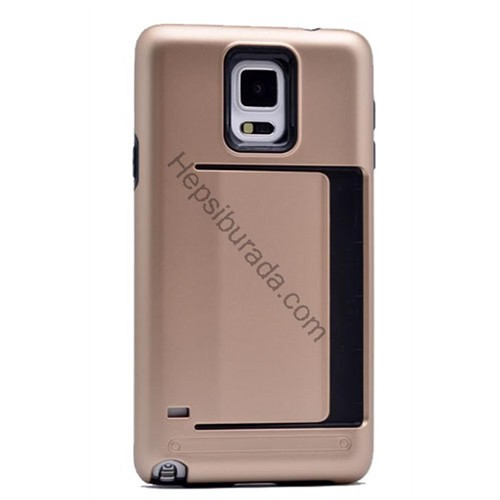 Fonemax Samsung Galaxy Note 4 Korumalı Sert Arka Kapak (Kart Cepli)