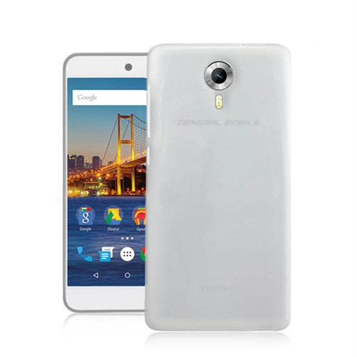 Fonemax General Mobile GM5 Plus Ultra İnce Silikon Kılıf Şeffaf