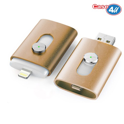 Case 4u iStick Apple USB Flash Bellek 64 GB Gold (iPhone/iPad/iPod Yedek Hafıza)*