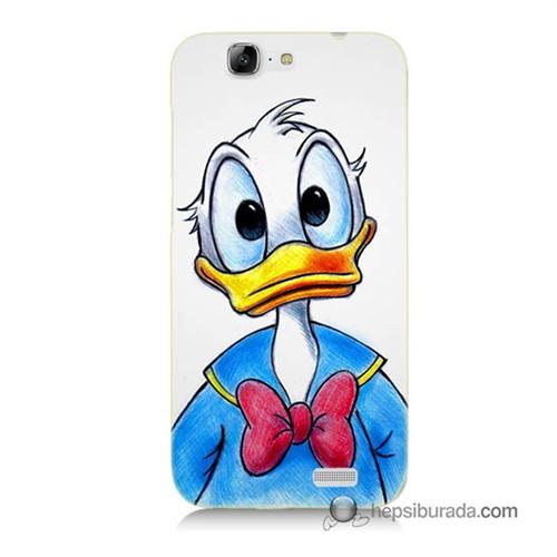 Teknomeg Huawei G7 Kapak Kılıf Donald Duck Baskılı Silikon