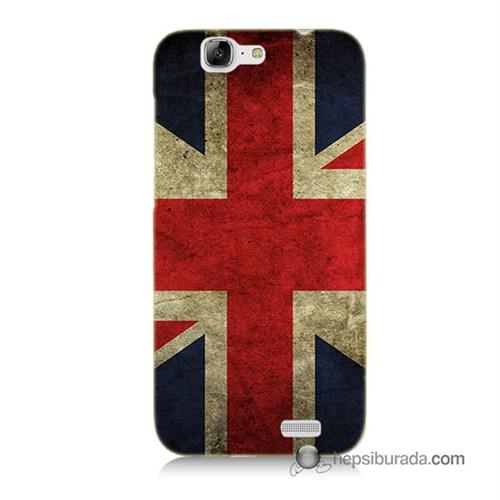 Teknomeg Huawei G7 Kapak Kılıf İngiltere Bayrağı Baskılı Silikon