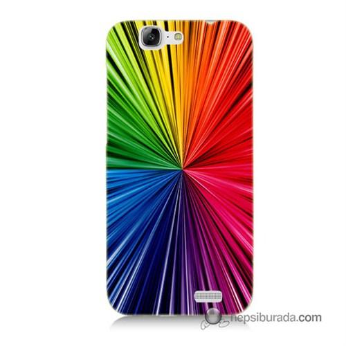 Teknomeg Huawei G7 Kapak Kılıf Renkler Baskılı Silikon