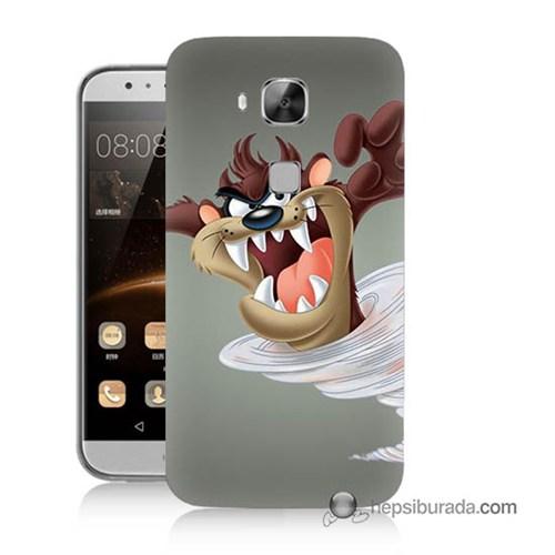 Teknomeg Huawei G8 Kapak Kılıf Tazmanya Canavarı Baskılı Silikon