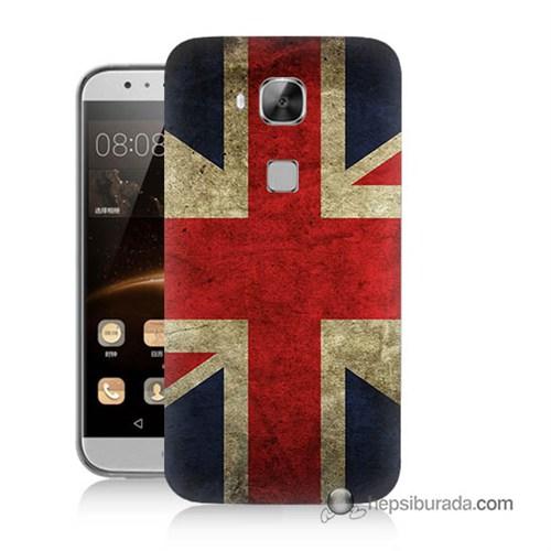 Teknomeg Huawei G8 Kapak Kılıf İngiltere Bayrağı Baskılı Silikon