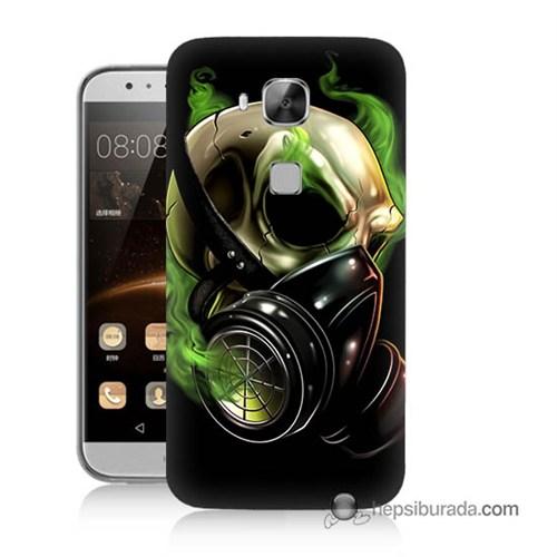 Teknomeg Huawei G8 Kapak Kılıf Ölüm Maskesi Baskılı Silikon