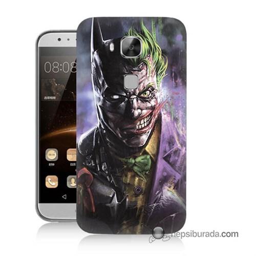 Teknomeg Huawei G8 Kapak Kılıf Joker Vs Batman Baskılı Silikon