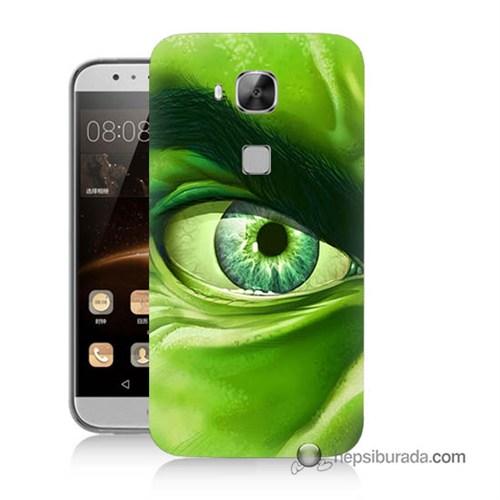 Teknomeg Huawei G8 Kapak Kılıf Hulk Yeşil Dev Baskılı Silikon