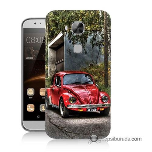 Teknomeg Huawei G8 Kapak Kılıf Volkswagen Baskılı Silikon