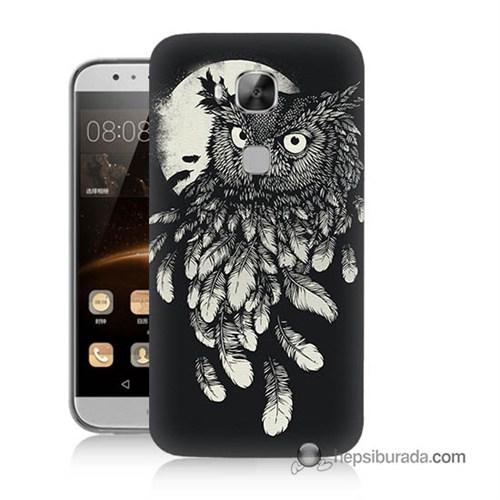 Teknomeg Huawei G8 Kapak Kılıf Gece Kuşu Baskılı Silikon