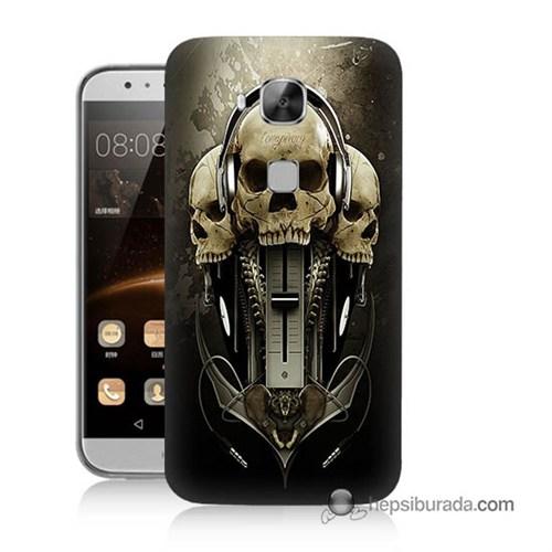 Teknomeg Huawei G8 Kapak Kılıf İskeletler Baskılı Silikon