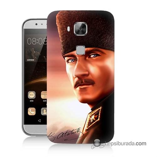 Teknomeg Huawei G8 Kapak Kılıf Mustafa Kemal Baskılı Silikon