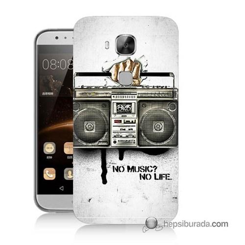 Teknomeg Huawei G8 Kapak Kılıf Müzik Hayattır Baskılı Silikon