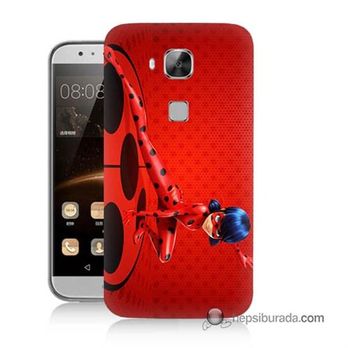 Teknomeg Huawei G8 Kapak Kılıf Sevimli Kahraman Baskılı Silikon