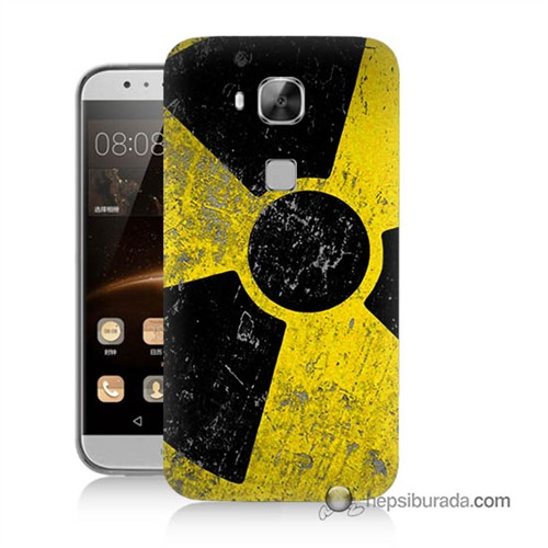 Teknomeg Huawei G8 Kapak Kılıf Radyasyon Baskılı Silikon