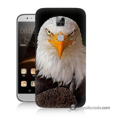 Teknomeg Huawei G8 Kapak Kılıf Kartal Baskılı Silikon