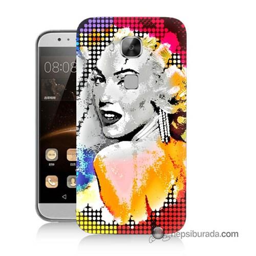 Teknomeg Huawei G8 Kapak Kılıf Marilyn Monroe Baskılı Silikon