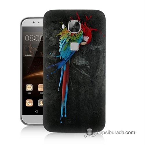 Teknomeg Huawei G8 Kapak Kılıf Papağan Baskılı Silikon