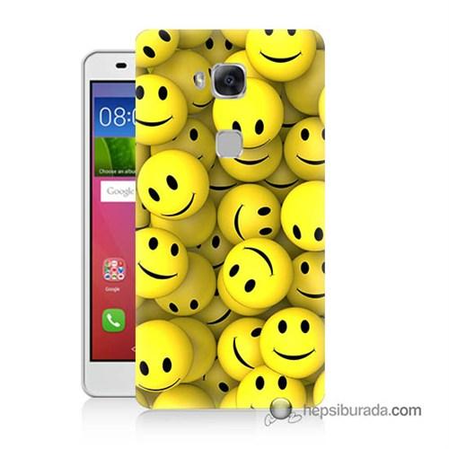 Teknomeg Huawei Gr5 Kapak Kılıf Smile Baskılı Silikon
