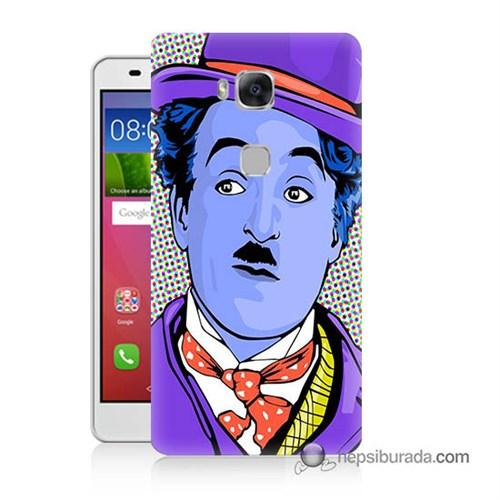 Teknomeg Huawei Gr5 Kapak Kılıf Charlie Chaplin Baskılı Silikon