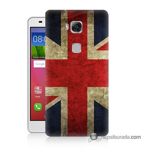 Teknomeg Huawei Gr5 Kapak Kılıf İngiltere Bayrağı Baskılı Silikon