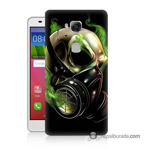Teknomeg Huawei Gr5 Kapak Kılıf Ölüm Maskesi Baskılı Silikon