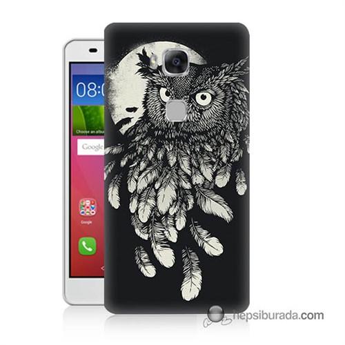 Teknomeg Huawei Gr5 Kapak Kılıf Gece Kuşu Baskılı Silikon