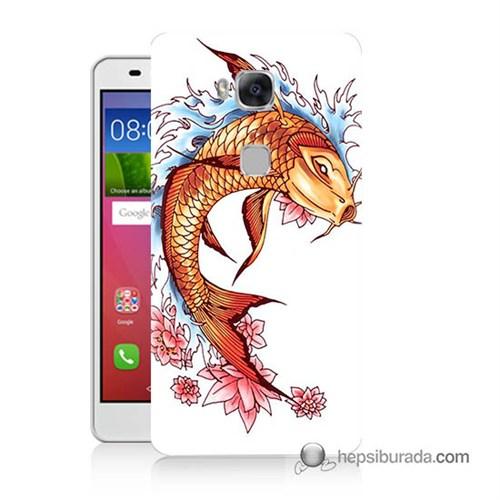 Teknomeg Huawei Gr5 Kapak Kılıf Balık Baskılı Silikon