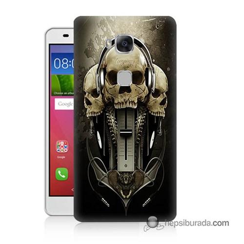 Teknomeg Huawei Gr5 Kapak Kılıf İskeletler Baskılı Silikon