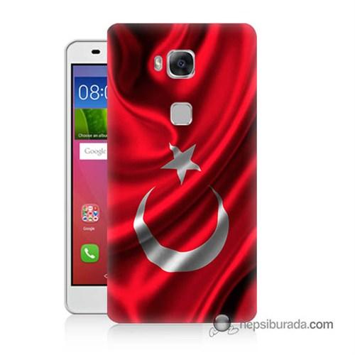 Teknomeg Huawei Gr5 Kapak Kılıf Türkiye Bayrağı Baskılı Silikon
