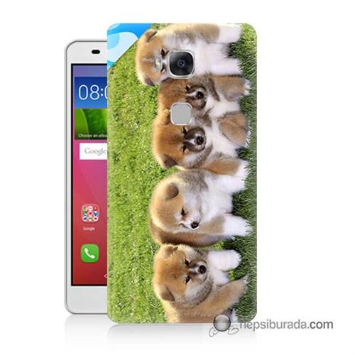 Teknomeg Huawei Gr5 Kapak Kılıf Sevimli Köpek Baskılı Silikon