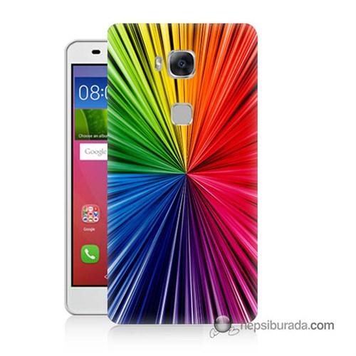 Teknomeg Huawei Gr5 Kapak Kılıf Renkler Baskılı Silikon