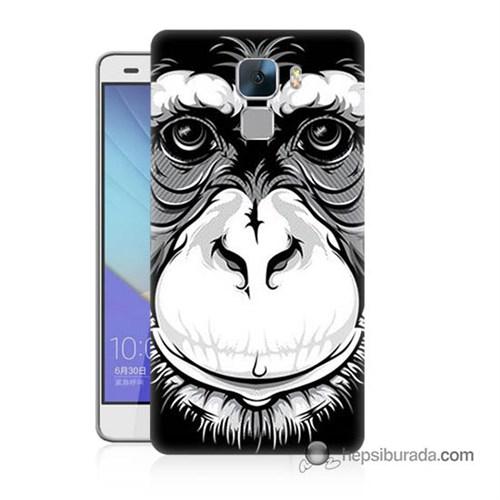 Teknomeg Huawei Honor 7 Kılıf Kapak Maymun Baskılı Silikon