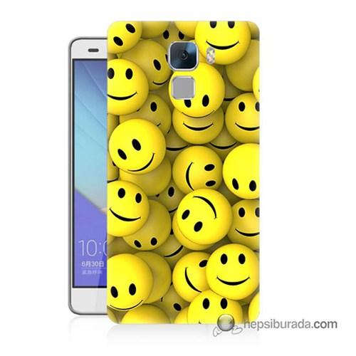 Teknomeg Huawei Honor 7 Kapak Kılıf Smile Baskılı Silikon