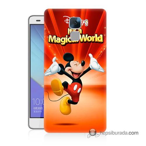 Teknomeg Huawei Honor 7 Kapak Kılıf Mickey Baskılı Silikon