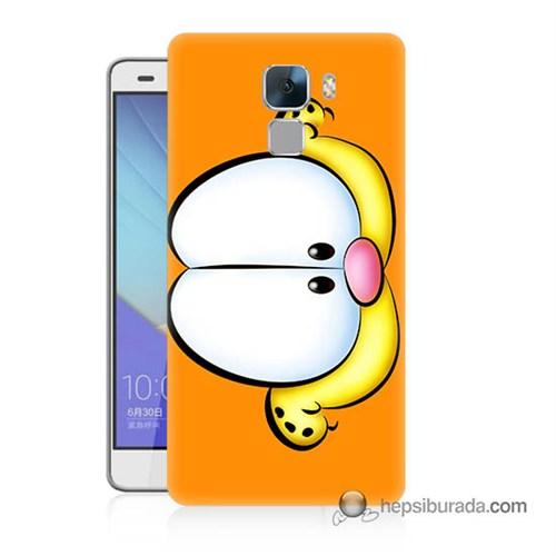 Teknomeg Huawei Honor 7 Kapak Kılıf Garfield Baskılı Silikon