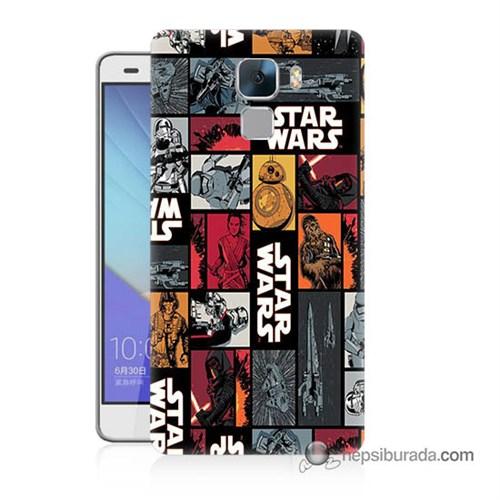 Teknomeg Huawei Honor 7 Kapak Kılıf Star Wars Baskılı Silikon