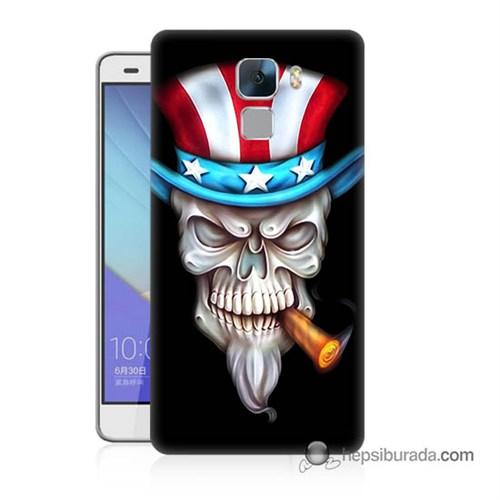 Teknomeg Huawei Honor 7 Kapak Kılıf Sam Amca Baskılı Silikon